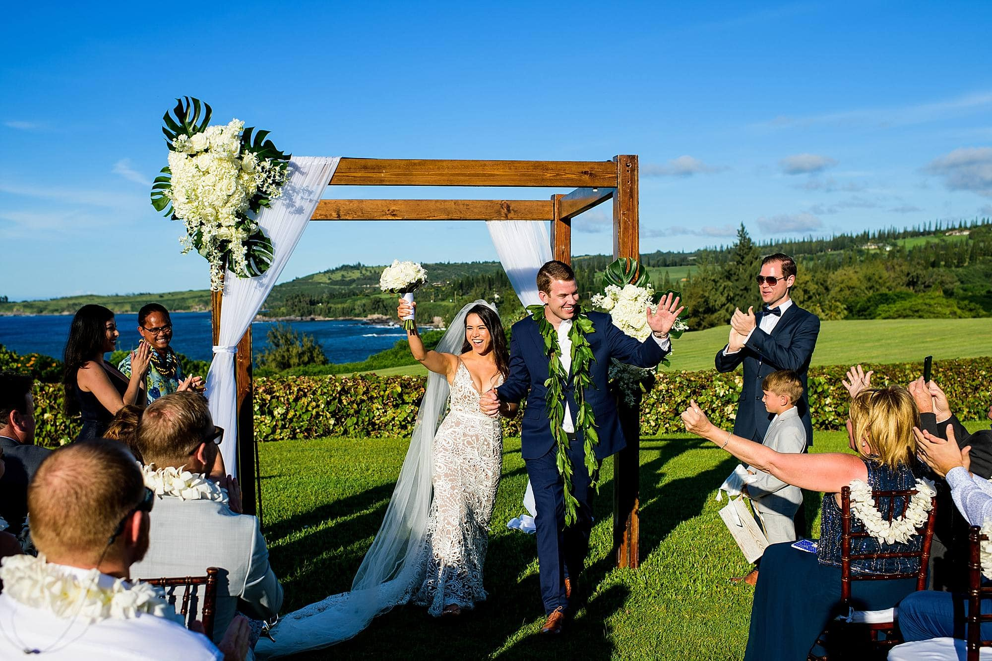 just married at ritz carlton kapalua