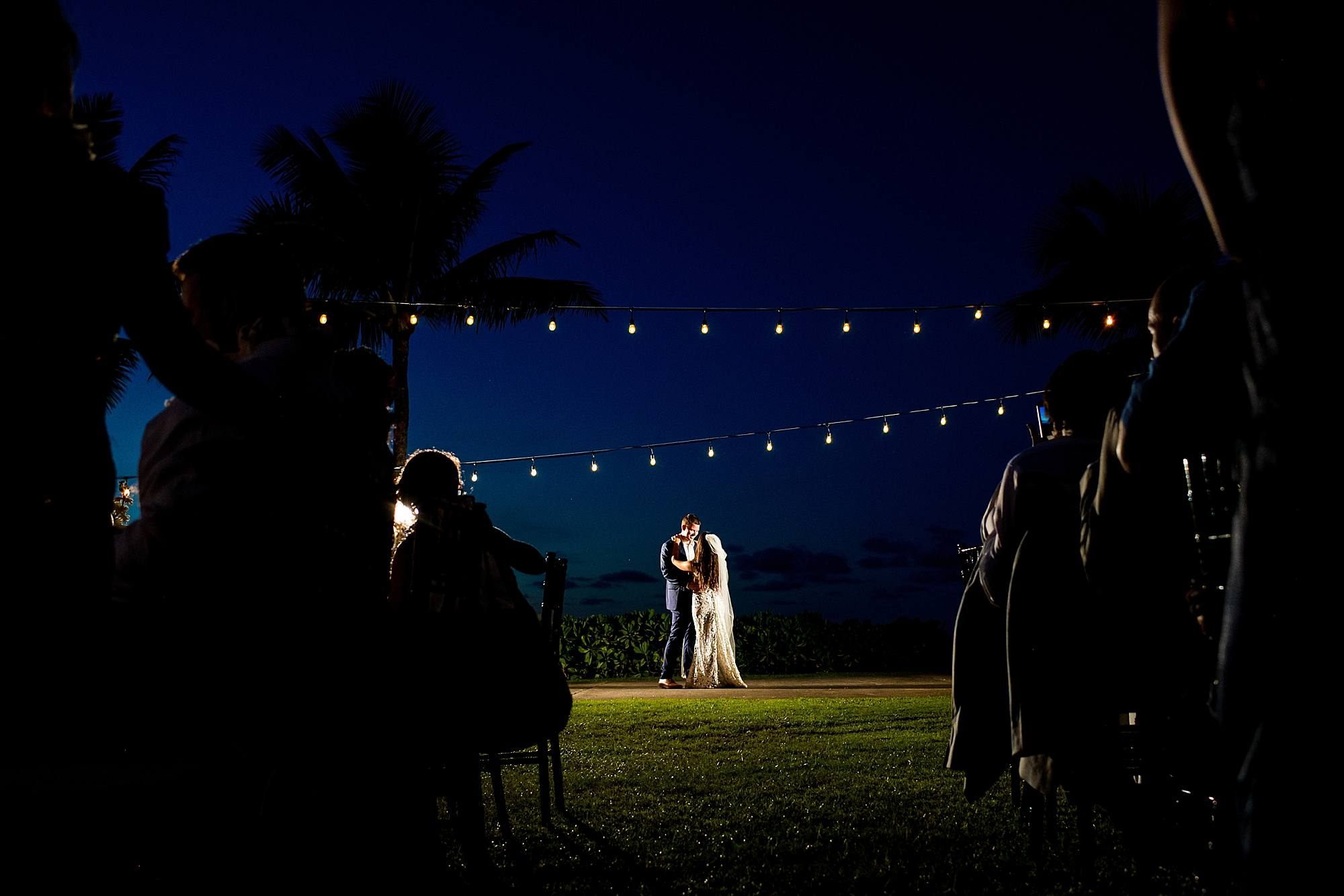 bride and groom first dance at ritz carlton kapalua