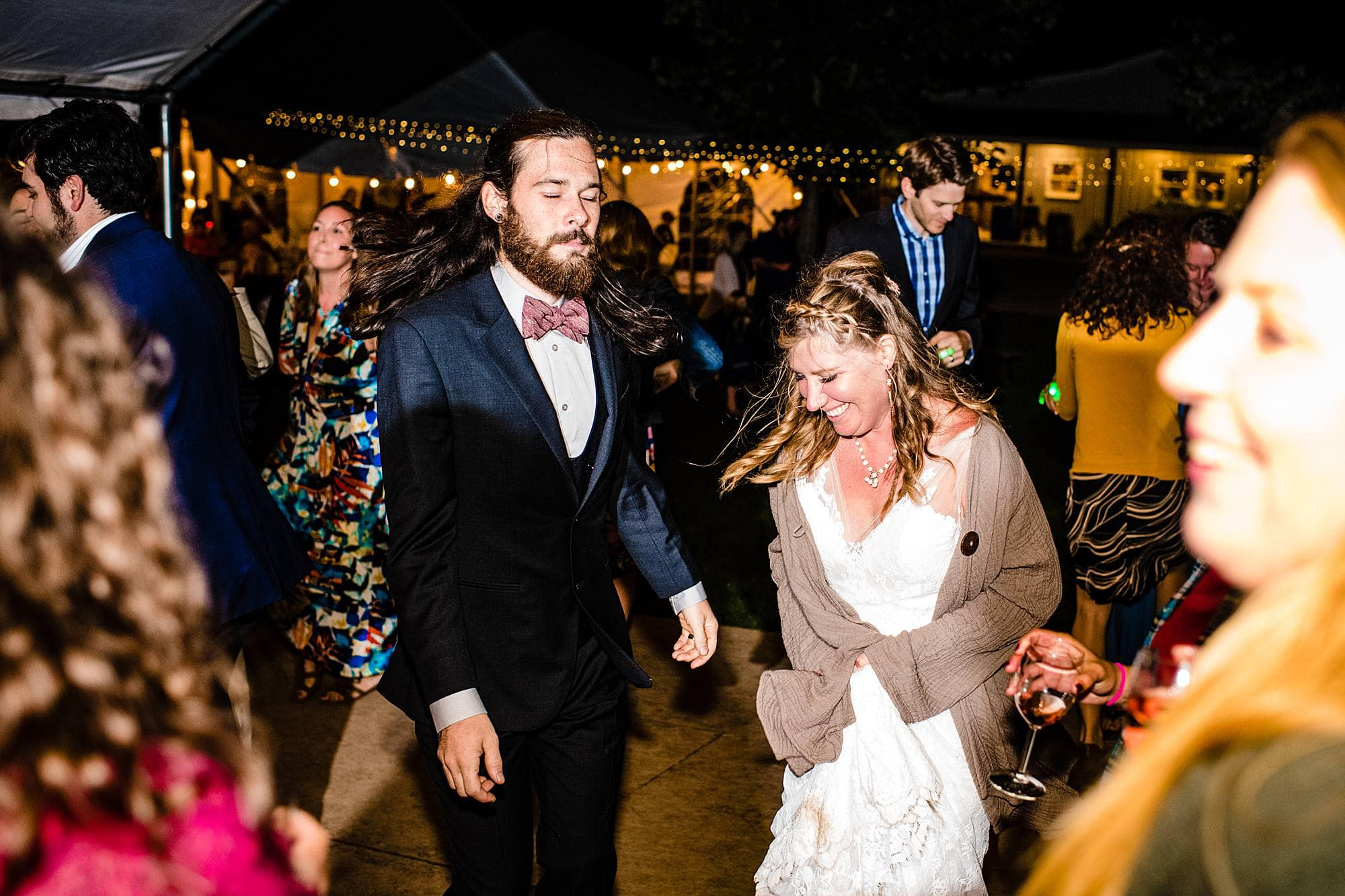 dancing at lemon creek winery reception