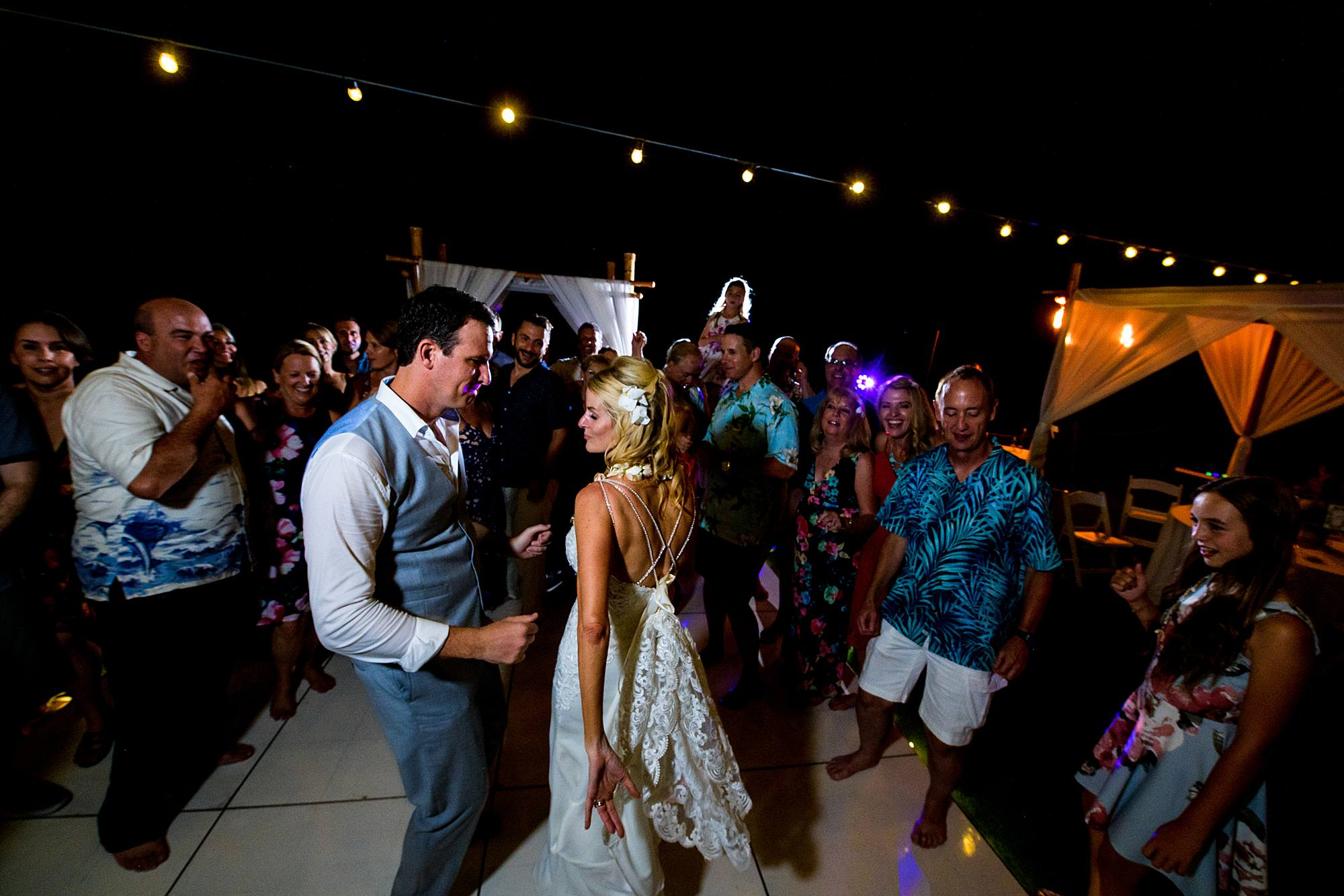 bride and groom at westin kaanapali reception